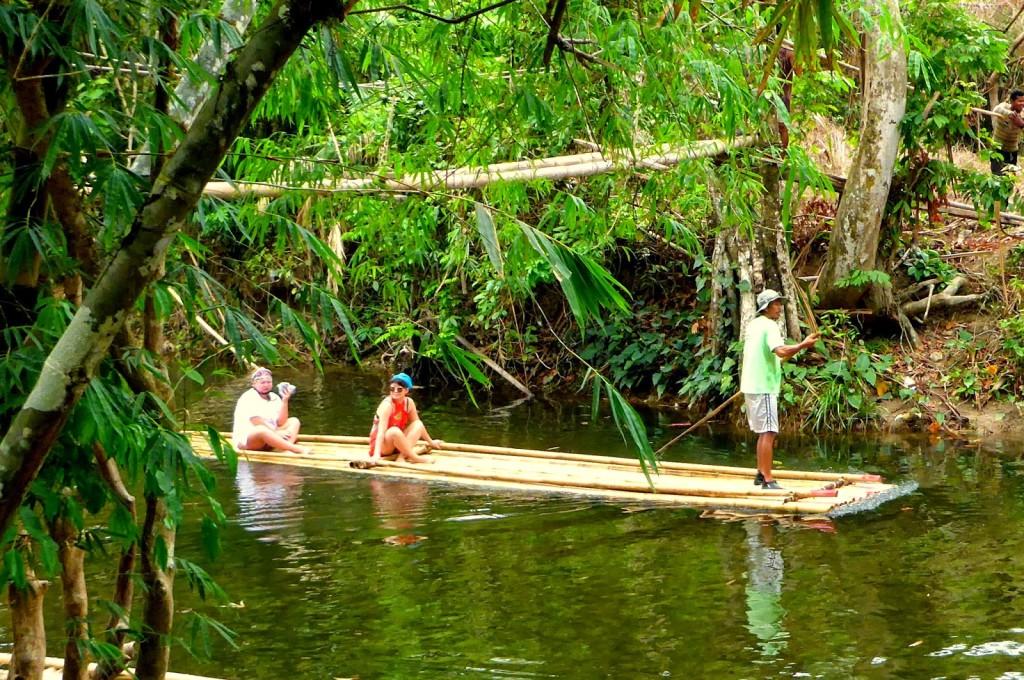 Bamboo raft khao lak
