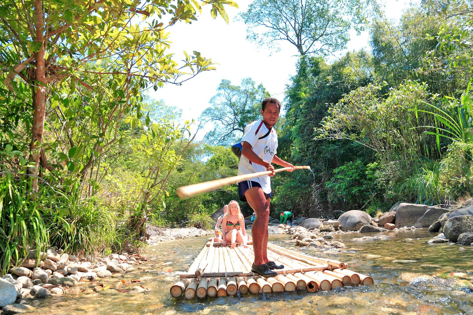 khao lak bamboo rafting