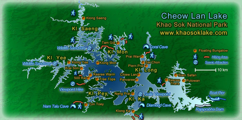 Cheow Lan lake map